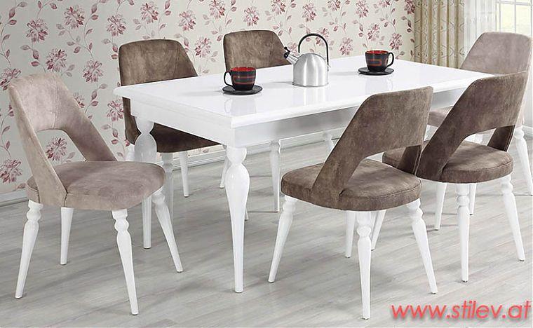Möbel Online Kaufen Set Paris mit Esstisch StühleStilev 6 MpzSVqU