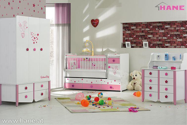 Feenzauber Babyzimmer In Weiss Rosa 9336 3teilig Stilev Mobel
