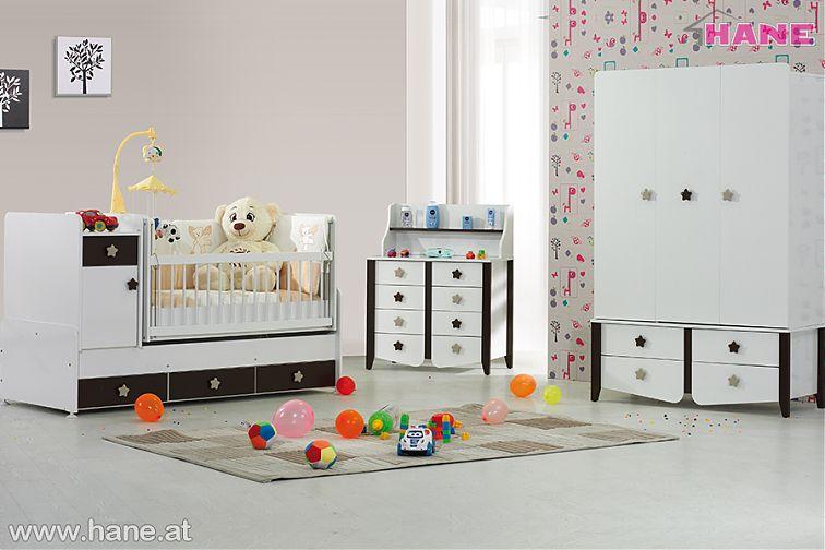 Star Babyzimmer In Weiss Braun 9631 3teilig Stilev Mobel Online